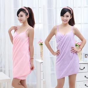 Free ship Hot sale Good Quality Super Absorbent Warm Magic Bath Towel Soft Lovers Bathrobe Adult Bath Skirt WB5