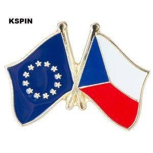 Europäische Union Tschechische Rep. Freundschaft Flag Badge Flag Pin XY0080