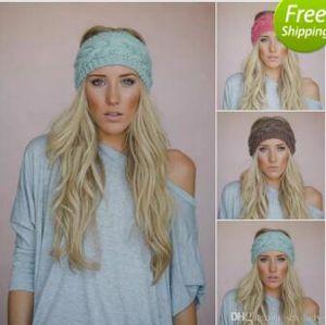 24 colores Plum Knit Headband Chunky Knit Headband Earwarmer Knit Wool Headband para mujeres niñas otoño invierno accesorios