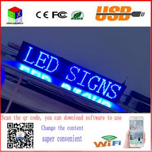 información inalámbrica y USB programable rodadura interior P10 señal azul LED de 40x8 pulgadas 1000x200MM pantalla LED