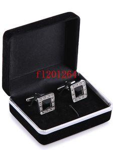 100 pcs / lot Livraison Gratuite Vente Chaude En Gros Promotion Noir Velours Cufflink Box Meilleur cadeau boîte à bijoux pour Boutons De Manchette