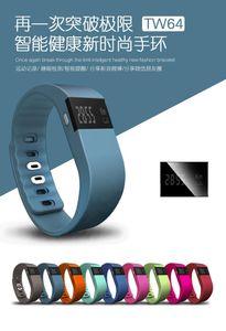 TW64 смарт-браслет Bluetooth смарт-браслеты смарт-часы водонепроницаемый Passometer сна трекер функция для android ios системы