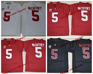 2019 Stanford Cardinal Christian McCaffrey Koleji Futbol Formalar Mens 5 Christian McCaffrey Dikişli Futbol Gömlek S-XXXL