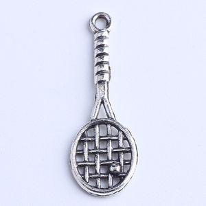 Diy prata / cobre retro raquete De Tênis Dangle Encantos Pingente Fabricação de jóias pingente fit Colar ou Pulseiras charme 800 pçs / lote 1020x