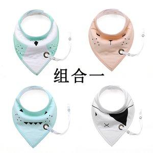New Fashion Can Aggiungi Pacifier Unico fumetto triangolo asciugamano in cotone bavaglino Slobber doppio strato accessori per bambini