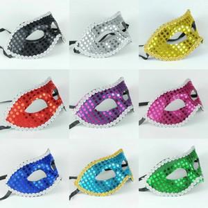 Половина лица венецианские маски для женщин цвет блесток украшения блестят маскарадные украшения Halloween Party Поставщик Mix 20 Шт.