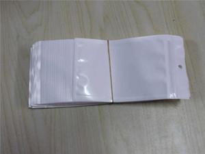 Clear + White Pearl Пластиковые Poly OPP Упаковка ZippeR Zip стопорное Розничные пакеты ювелирных изделий пищевой ПВХ мешок 10 * 18см 12 * 15см 7,5 * 12см