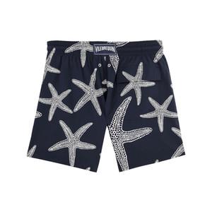 Tejido de algodón de secado rápido Cierre con cordón Malla breve forro Summer Hot Men Shorts de playa Quick Dry Printing Board Shorts Men