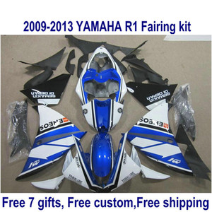 ABS мотоцикл обтекатель комплект для YAMAHA YZF-R1 2009-2011 2012 2013 черный синий белый YZF R1 обтекатели набор 09-11 12 13 HA35