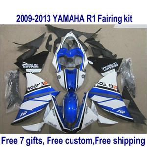 Kit carena ABS per YAMAHA YZF-R1 2009-2011 2012 2013 nero blu bianco YZF R1 carene 09-11 12 13 HA35