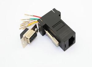 Yüksek kaliteli siyah DB9 Kadın RJ45 Dişi RS232 Modüler Adaptör 500 Adet / grup