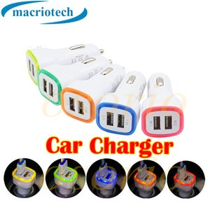 5V 3.1A 2 Port Mini USB LED Quick full-speed Car Charger Dual Port Auto Adapter for iPhone 7 6Plus for Samsung S5 6 note 5 4 Xiaomi HTC