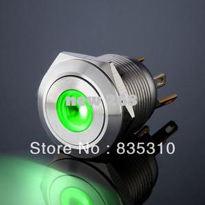 반대로 푸시 버튼 도트 녹색 짧은 순간 LED 스위치 L19M (19mm)