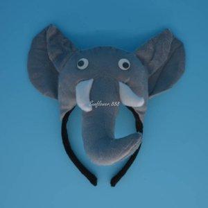 Enfants Enfants Halloween Party Elephant Cosplay Oreilles Animaux Bandeau Bow Tail Cheveux Accessoires De Fête Décoration Fournitures