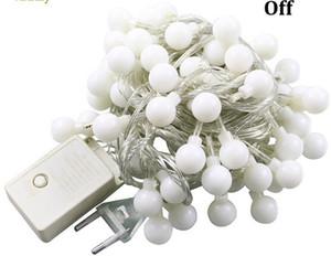 여러 가지 빛깔의 공 LED 스트링 야외 조명 10M LED 로프 공 크리스마스 휴일 파티 garlands 빛 / 결혼식 110V 220V IP65 100LED