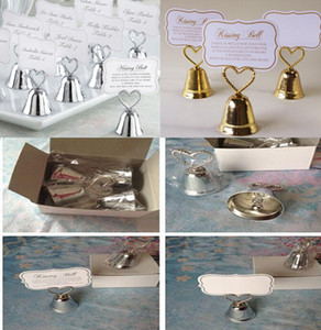 Free shipping 24pcs lot Party favor Kissing Bell Place Card Holders