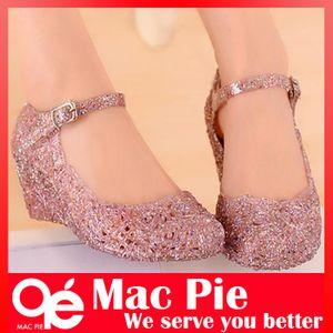 홀 신발 플랫 샌들 bird's-nest 플라스틱 크리스탈 젤리 여성 샌들 신발
