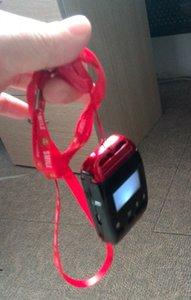 Chamada sem fio sistema de sistema de chamada de enfermeira 2 relógio inteligente com corda no pescoço e 7 1key chamadas