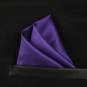 Твердые Блестящая Полный площади Платок Платок искусственного шелка Gentleman Hanky Cravat для свадьбы Жениха Модные аксессуары