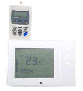 Freeshipping 4 borular IR uzaktan kumanda ile ayarlanabilir dijital sıcaklık kontrol termostatı programlanabilir 7 x 24