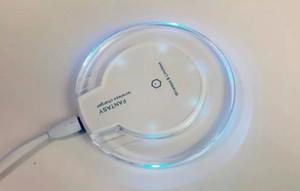 Ultra-sottile caricabatterie senza fili Qi Charging Pad per caricabatterie wireless Samsung Smart Phone con l'imballaggio al dettaglio luce