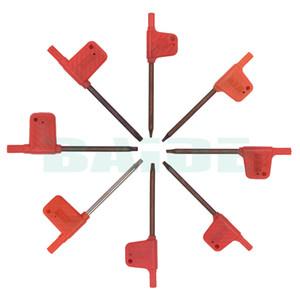 T6 T7 T8 T9 T10 T15 T20 Torx Отвертка-токарный станок Токарный инструмент Расточные ключи Ключи для инструментов вставки 1000 шт. / Лот