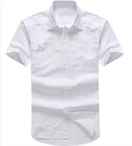 Designer men's Summer Short sleeved Dress shirts 2018 men casual POLO small horse shirts fashion USA Brand RL Oxford social Solid shirt