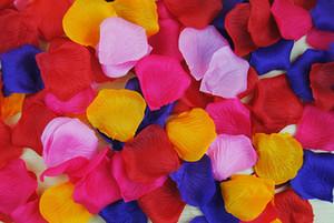 ارتفع الحرير الاصطناعي بتلات الزفاف الجدول الديكور الزفاف بتلات الزهور مناسبات الزفاف اكسسوارات الديكور الزهور