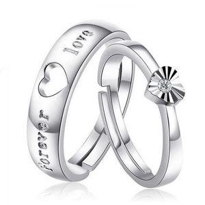 Kalp romantik asil çift aşk sonsuza mektup içi boş kalp yüzük yeni sevgilisi hediye gümüş takı