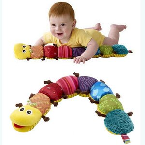 Nuevo Popular Colorido Musical Inchworm Suave Encantador Desarrollo Bebé Sonido Juguete Caterpillar Confort Plush Juguetes de aprendizaje