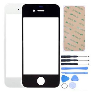 100 Sets New High Quality Front Glass Lens+Tools+Adhesive for iPhone 4 4S 5 5G 5S 5C LCD Outer Glass Touch Screen Panel Digitizer