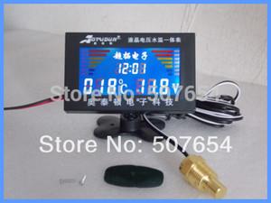 Высокое качество 3-дюймовый ЖК-цифровой автомобильный датчик / автоматический метр для многих автомобилей(четыре в одном, напряжение + температура воды+ Время + USB-зарядка)