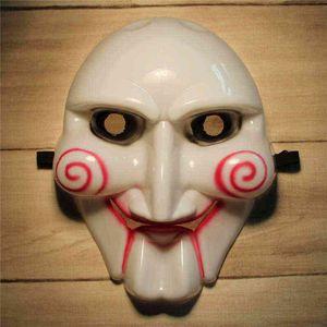 Маскарадные маски страшно видел Билли Вольто бензопилой убийца анфас мужские ПВХ костюм партии ужас Марди Гра маска для Хэллоуина праздники шары