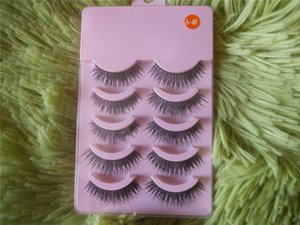 Wholesale-New 5 Pairs Natural Or Thick Styles Makeup Long False Eye Lash Eyelashes Black A-40