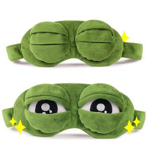 Sad Frog 3D Schlafmaske Anime Cartoon Plüsch Augenmasken Lustige Cosplay Kostüme Zubehör Neuheit Geschenk Mode Schlafaugenmaske Augenpflege
