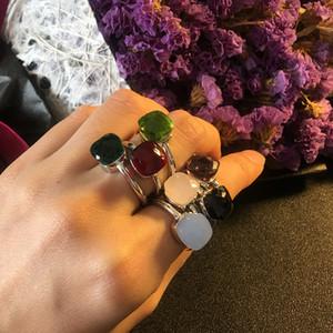 Top Messingmaterial Paris Designring mit der Natur Jade und Zirkon verzieren einzigen Ring-Charmearmband für Frauen und Mutter je