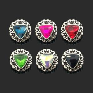 Hot sale Interchangeable Flower 029 Rhinestones Metal Snap Buttons Fit 12mm Snap button bracelets Earrings necklace For women