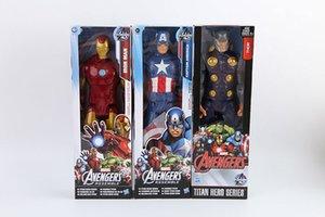 Os Vingadores Homem De Ferro Capitão América Thor Boneca para Crianças Moive Figuras de Ação de presente de Natal para crianças brinquedos clássicos