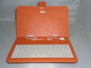 """Micro USB Q8 Q88 7 """"Tablet PC PU cuero Keyboard Stand Case para PC de 7 pulgadas Tablet PC Q88 7"""" Keyboard Cover Case regalo para el día de Navidad"""