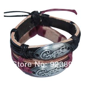 FG 2 шт./лот Бесплатная доставка горячие продажа ювелирные изделия ящерица кожаный браслет для любовника