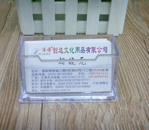 Porta biglietti da visita in plastica Porta carte trasparenti da ufficio Tavolo da ufficio Porta biglietti da visita grande capacità spedizione gratuita