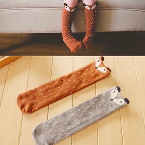 2015 تصميم جديد الجوارب الطفل الكرتون آذان الثعلب القطن الركبة طول الجوارب للأطفال 2170