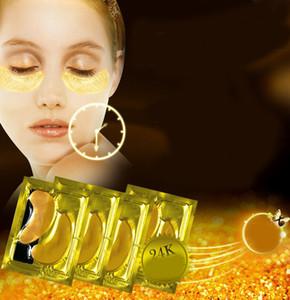 Nuevo Crystal Gold Powder Eye Mask Anti-Ageing Elimina Anti Dark Circles Collagen Eye Mask Hidratante Ojos Cuidados MZ002