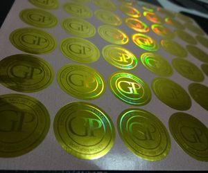 ¡Cambio de color libre del design3D! Impresión segura de etiqueta de holograma personalizada, puede ser con número de serie / único y rasguño fuera de recubrimiento