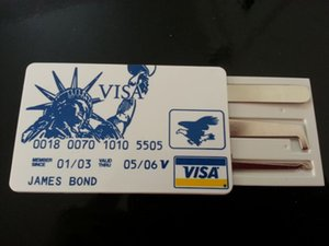 James Band Card محفظة 5pcs Pocket Lock Pick تحدد العلامة التجارية ذات الجودة العالية