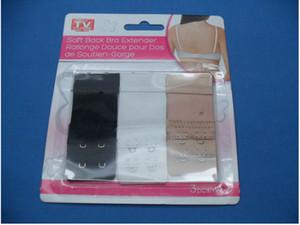Set of 3 Comfortable Soft Back Bra Extender 2 Hooks Women Elastic Underwear Clip 10sets lot Free shipping