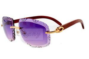 17 Tomada de Fábrica Jindian moda óculos de sol de alto grau de gravação 8300075 Natural templo de madeira pernas óculos de sol, óculos tamanho: 60-18-135