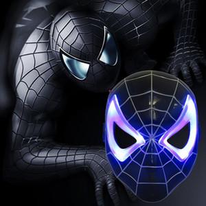 1pcs nuovissimo Spider Man Giocattoli Animazione Cartoon LED Maschera Spiderman incandescente Cosplay Action Figure Toy Per bambini Regalo 2 colori