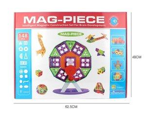 Free Shipping Variety Children's Building Blocks Pulling Blocks Magnetic Sheet Magnetic Wisdom Magic piece 148pcs