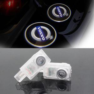LED Araba Volvo kapı nezaket lazer projektör Logo Hayalet Gölge Işık Volvo XC90 S60 C70 V60 V50 V40 XC60 S60L S80L
